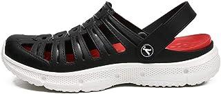 WYTX Summer Men Cool Dry Cooling Sandalias de Playa Slip On Transpirable Zapatos de jardín Amarillos Moda Light Men Zuecos...