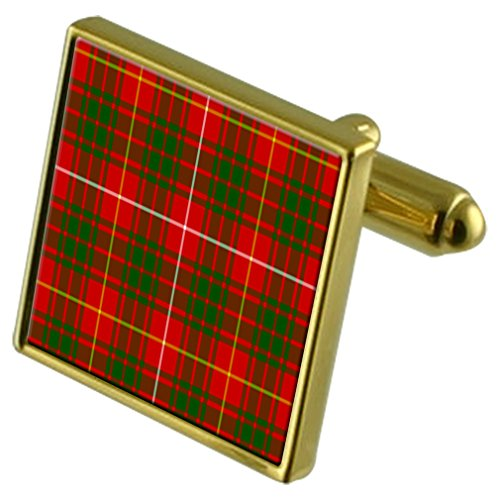 Select Gifts Boutons de manchette or Bruce Clan Tartan