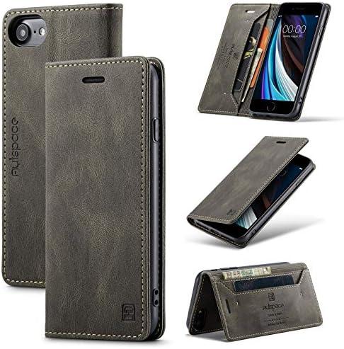 TOHULLE for iPhone 6 iPhone 6S iPhone 7 iPhone 8 iPhone SE 2020 Case Vintage Wallet Case Card product image