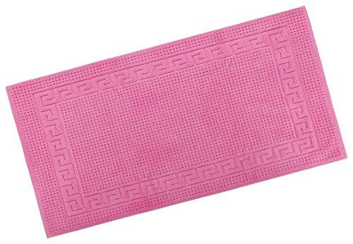 PremiumShop321 Restposten Floringo Badvorleger/Badematte Exclusiv 1100 g/m² / Badeteppich-pink-70x140