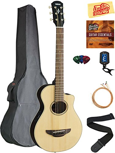Yamaha APXT2 3/4-Size Acoustic-Electric Guitar - Natural Bundle with Gig Bag, Tuner, Strings, Strap, Picks, Austin Bazaar Instructional DVD, and...