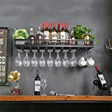 RSWLY Soportes de Vino for Pared Metal Vintage  Soporte for Botellas de Vino de pie   Soporte Colgante for Copas de Vino  Soporte de Vino rústico Enfriador de Vino montado en la Pared Wine Stand Wine