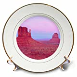 3dRose cp_208824_1 USA, Arizona The Mittens Sandstone Formations in Monument Valley Porcelain Plate, 8'