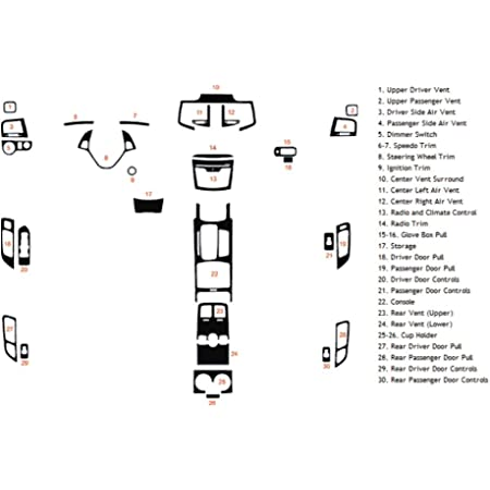 Rvinyl Rdash Dash Kit Decal Trim for Lincoln MKZ 2013-2016 Brushed Black Aluminum