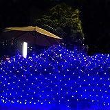Azul Luz de Navidad, Cortinas Interiores, Exteriores Luces de la celebración a...