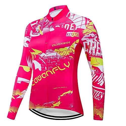 ZDAMN Fietskleding Vrouwen Outdoor Sport Comfortabel Fietsen Ademend Lange Mouw Sportkleding Fietsen Ademende Jersey Set