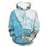 Sudadera con capucha para hombre, divertida y elegante, agradable a la piel, color marblingSweatshirt