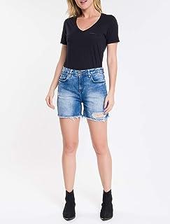 Camiseta Slim Manga Curta, Calvin Klein, Feminino