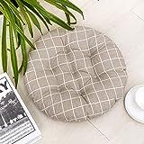 HomeMiYN Runde Sitzkissen für Garten Esszimmer Tatami Küchenstuhl Soft Durable mit Krawatten Stuhlkissen 50 * 50cm