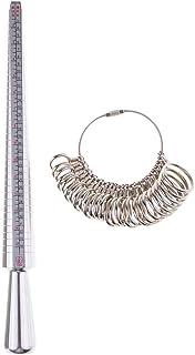 Prettyia 2pcs/Set Accurate Jewelry Ring Making Kit, Ring Sizer, Mandrel DIY Jewelry