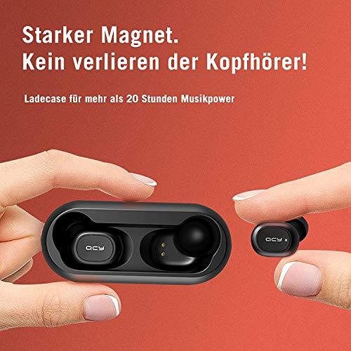 QCY T1 Bluetooth 5.0 Sport-Kopfhörer In-Ear, 20 Stunden Akkulaufzeit, Wireless kabellos für iPhone Android mit starkem Powerbank, IPX4 wasserdicht und Mikrofon Bild 2*