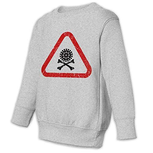 Unbrands Youth Ncov Coronavirus Waring Danger Skull Cotton Sweatshirts Hoodies Without Pockets