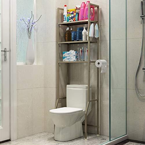 YSNUK Cuarto de baño WC Inodoros Estante WC WC WC Plataforma Plataforma Plataforma De Almacenamiento Sala de Estar, Dormitorio (Color : Champagne Gold)