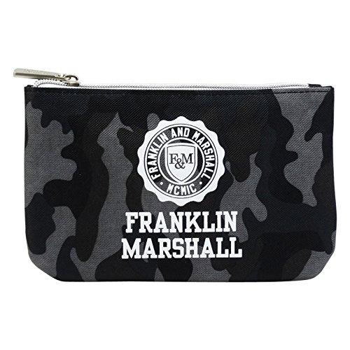 Franklin Marshall Etui met powerbank, 1 ritssluiting met pennenhouder, kleur zwart
