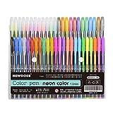 Newdoer 48 Packs Color Gel Ink Pens,The Best Gel Pens Set for Adult