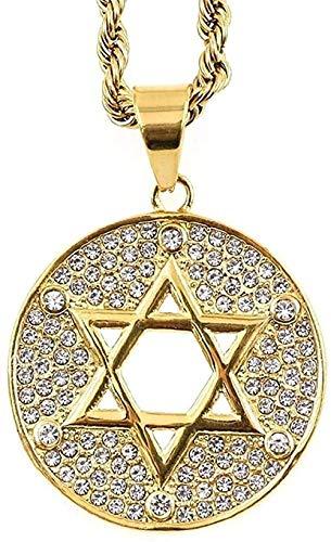 FACAIBA Halskette Jüdischer Stern von David Halskette Langkettige Halskette Frauenmode Halskette für Frauen Männer Geschenk