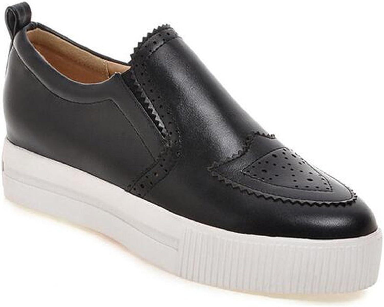 Colnsky Women's Trendy Elastic Low Top Platform Loafers Slip on Sneakers
