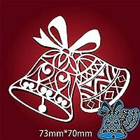 カードDIYスクラップブッキングステンシルペーパークラフトアルバムテンプレートのダイスについては73 * 70ミリメートルクリスマスレースベル新金属切削ダイス