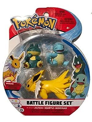 Wicked Pokemon Battle Figure 3 Pack - Jolteon, Squirtle & Munchlax por Pokemon