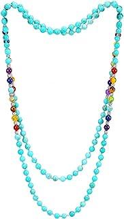 مجوهرات كات اي الخرزية بحجم 6 ملم، 8 ملم، وطول 48، 59 انش، قلادة مالا طويلة خرزية متعددة الطبقات للنساء والرجال والفتيات