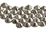 Eimass® Glaskristalle mit flacher Rückseite (schwarzer Hämatit, SS10, 3 mm), 500 Stück