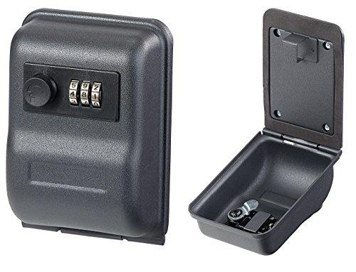Xcase Schlüsselbox: Mini-Schlüssel-Safe zur Wandmontage, 0,8-mm-Stahl, Zahlenschloss (Schlüsseltresore)