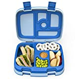 Bentgo Kids Children's Lunch Box - Leak-Proof, 5-Compartment Bento-Style Kids Lunch Box - Ideal Portion Sizes for Ages 3 to 7 - BPA-Free, Dishwasher Safe, Food-Safe Materials (Blue)