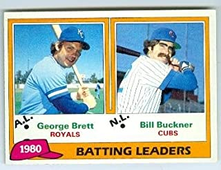 bill buckner baseball card