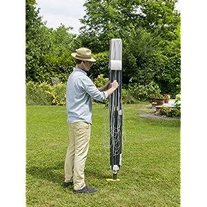 Juwel Wäschespinne Futura Elegant XXL (für 5-6 Waschladungen, Höhe verstellbar 165-190 cm, öffnet automatisch, inkl. Eindreh-Bodenhülse) 30319