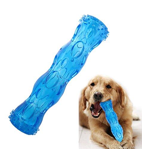 CEESC Juguete para masticar hueso de perro, limpieza de dientes y juego de puzzle para cachorro, 3 tamaños y 3 opciones de colores