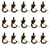 15 Pieces Metal Cup Hooks Ceiling Hooks Suspended Ceiling Hooks Screw Hooks (Small)