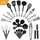 KRONENKRAFT 26 teiliges Küchenset Küchenzubehör, Kochset, Küchenutensilien Set - Zum Kochen für die ganze Familie