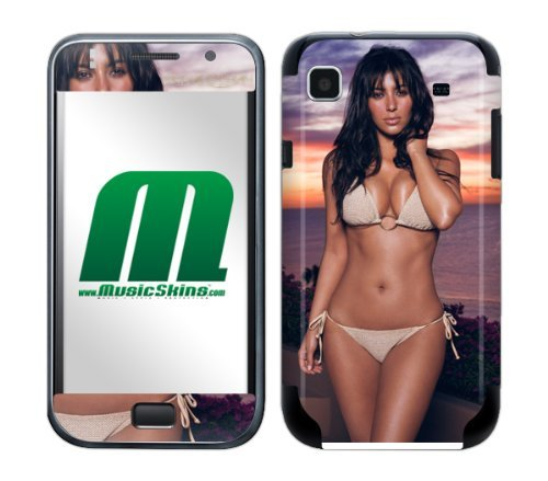 MusicSkins mobiele telefoon plakfolie/skin voor Samsung Galaxy, Kim Kardashian Bikini, Samsung Galaxy S International GT-I9000, Afbeelding