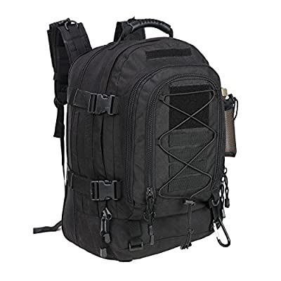 PANS Backpack for Men Large Military Backpack Tactical Waterproof Backpack for Work,School,Camping,Hunting,Hiking(BLACK)