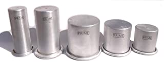 Prime Bakers and Moulders Aluminium Pillar Shape Candle Making Moulds (5 Pieces, silver)