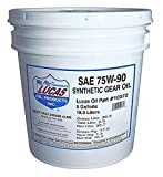 Lucas Oil 10072 SAE 75W-90 Synthetic Transmission and Differential Lube - 5 Gallon Pail