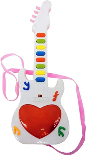 LUMINAIRE Musical Mini Guitar Instrument with Sound 3D Lighting Learning Toy for Kids