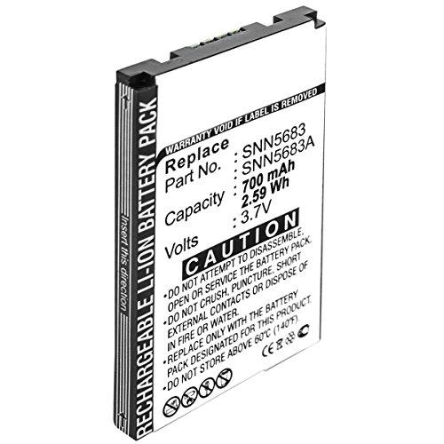Akku kompatibel mit Motorola A630, A760, A768, V300, V500 (SNN5683A) - ersetzt SNN5683, SNN5704, SNN5717 - Li-Ion 700mAh