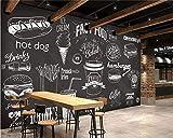 Afashiony Tafel-Feinschmecker-Schnellimbisskaffeestuben-Restauranthintergrund 3D Der Kundenspezifischen Foto-Tapetenhand Gezeichnete Wandwandtapete Für Wohnzimmer Wasserdicht Vliesen-200Cmx140Cm