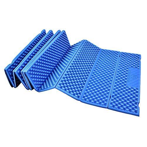 Delaman Colchoneta Plegable Colchoneta de Espuma, Colchón Impermeable de la Tienda de la Playa, para Montañismo al Aire Libre (Color : Azul)