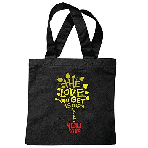 Tasche Umhängetasche Beauty - Mode - Trend - Street Wear - Life Style Einkaufstasche Schulbeutel Turnbeutel in Schwarz