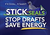 Stick 'N' Seal Adhesive Backed Outlet and Switch Draft Sealers. Save Energy and Money. Pack of 24