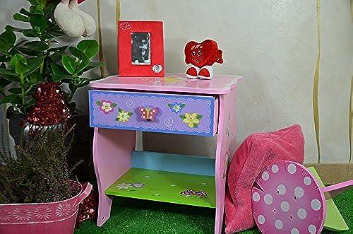Antyki24 Rosa Kinderkommode Kinderzimmer Baby Babyzimmer Schubladen Schubladenschrank 48 x 44 x 34 cm