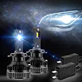 VLAND D2S Led Headlight Bulbs All-in-One Bulb Conversion Kit Super Bright Cold White for Projector Hi/Lo Beam, Replacement Bulbs for D2R D2H 4500 Lumens, 6000K, 50W, 9~36V