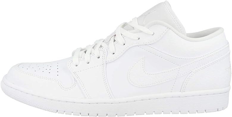 Amazon.com | Jordan Men's Shoes Nike Air 1 Low Triple White 553558 ...