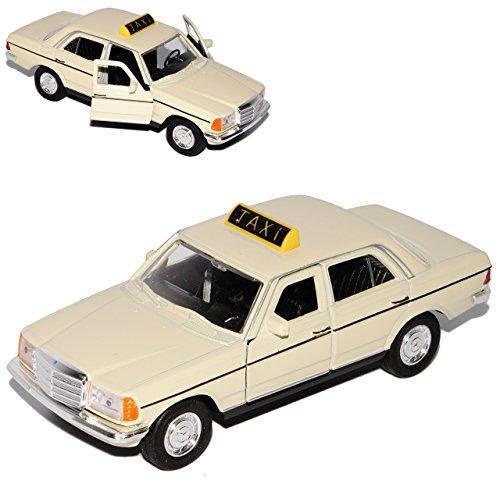 Welly Mercedes-Benz W123 E-Klasse Limousine Beige Taxi 1975-1986 ca 1/43 1/36-1/46 Modell Auto