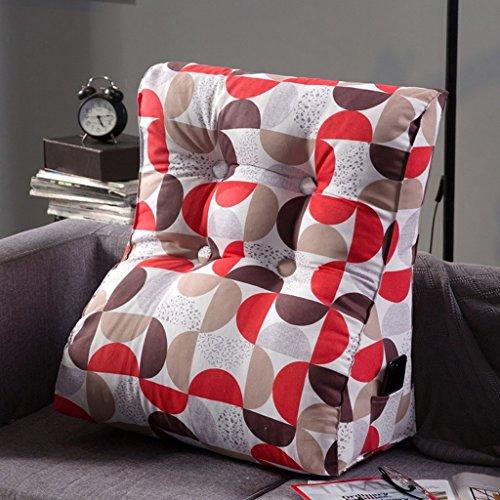 Coussins triangulaires, coussins de canapé de chevet, oreiller de taille de lecture, lavable (Couleur : A, taille : 45X55cm)