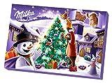 Milka Adventskalender mit einer Mischung aus Milchschokolade Crème gefüllten Figuren, 200 g