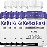 Keto Fast Diet Pills - Advanced Ketogenic Weight Loss Burn KetoFast - Burn Stubborn Fat - Energy & Focus - Suppress Appetite - Ketosis Booster - 700+100 mg (5 Month Supply)