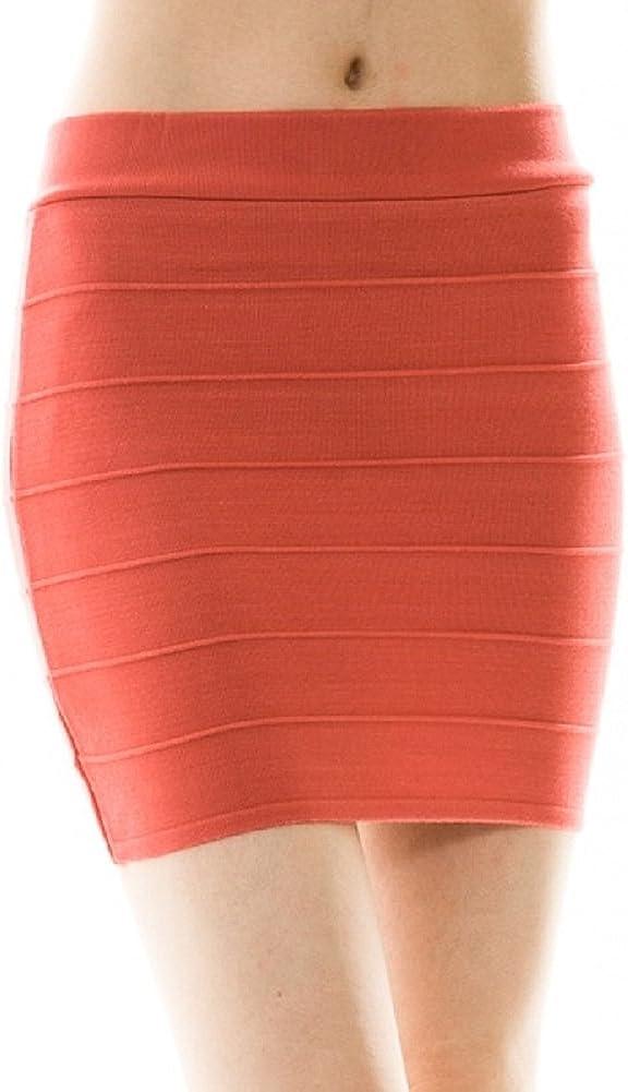 Ava Adorn Women's Solid Mini Bandage Skirt